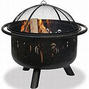 Oil Rubbed Bronze/Black Palm Tree Fire Bowl