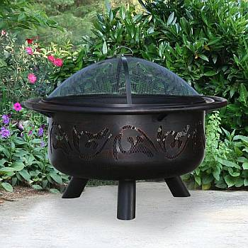 Oil Rubbed Bronze/Black Outdoor Firebowl