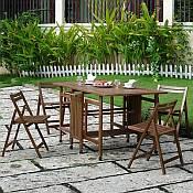 Teak Hideaway Dining Set