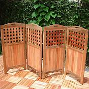 Teak Privacy Screen