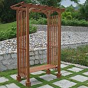 Eucalyptus Garden Arbor with Bench