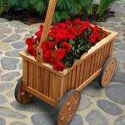 Teak Wagon Planter