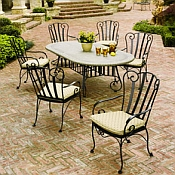Deauville Wrought Iron Dining Set