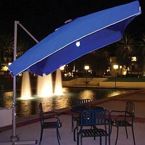 Sorrento Solar Plus Side Post Umbrella