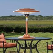 Fire Sense Halogen Copper Table Top Patio Heaters
