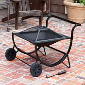 Fire Sense Cart Fire Pit