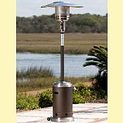 Mocha & Stainless Steel Commercial Patio Heater