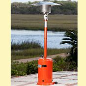 Tuscan Orange Powder Coated Patio Heater