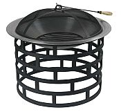 Round Ringed Powder Coated Fire Pit