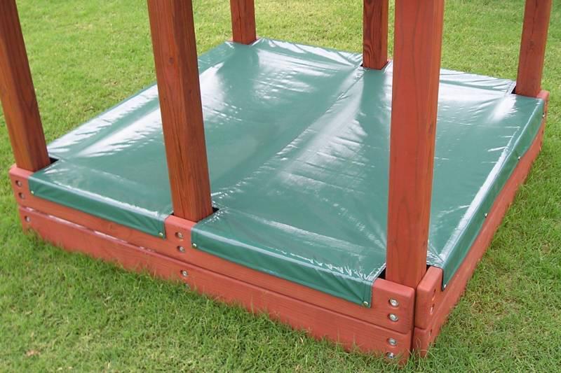 how to create sand box in backyard