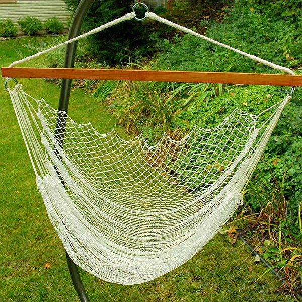 Nylon Net Hammock Chair (Click To Enlarge)