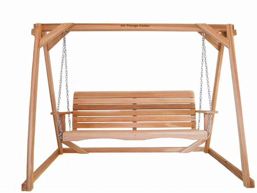 Two Piece Cedar Swing and A-Frame Set - AF72Us