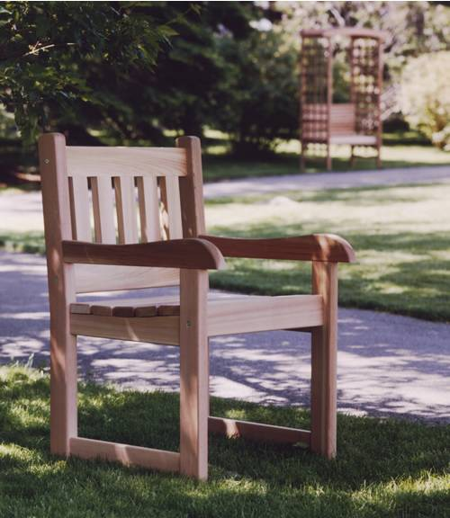 cedar arm chair