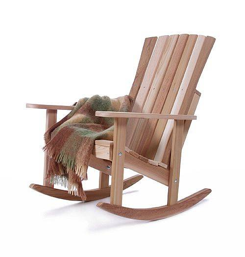 athena wooden rocking chair