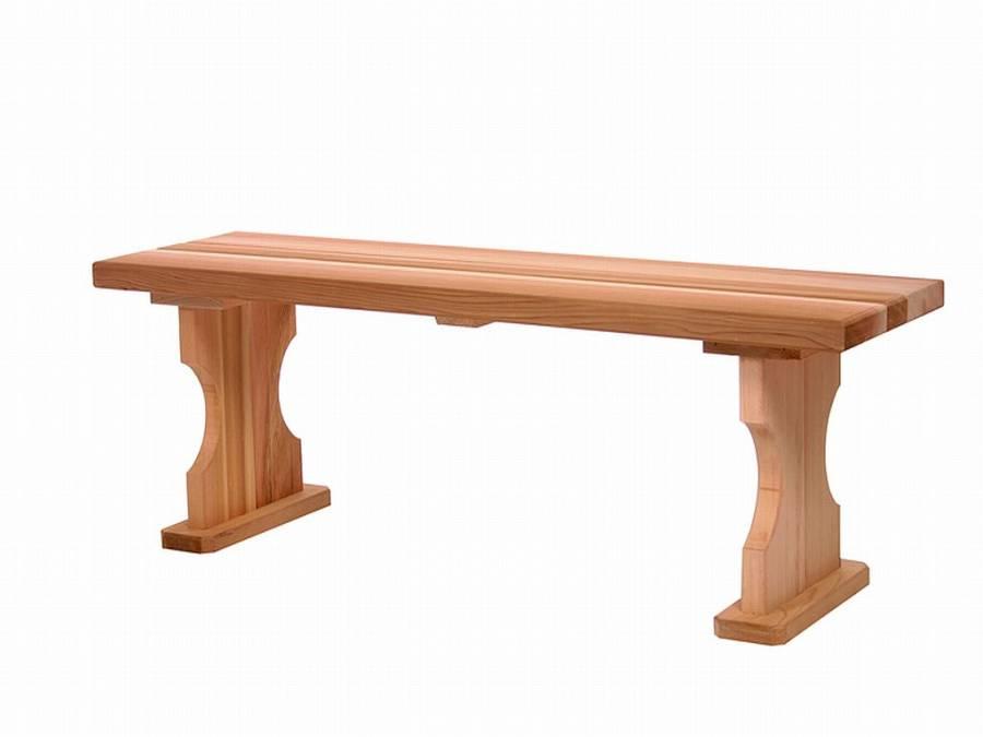 4 Foot Cedar Patio Bench Unassembled Bb45u