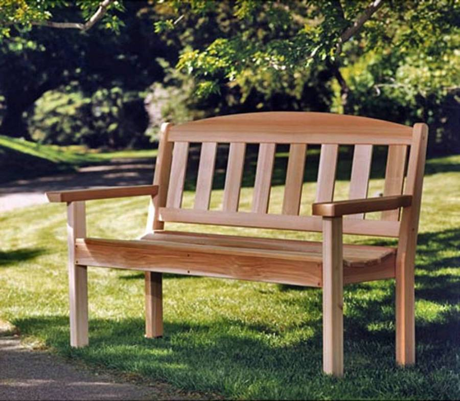 Admirable Cedar Garden Bench Partially Assembled Bralicious Painted Fabric Chair Ideas Braliciousco