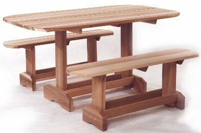 Cedar Picnic Table Unassembled Ot70u