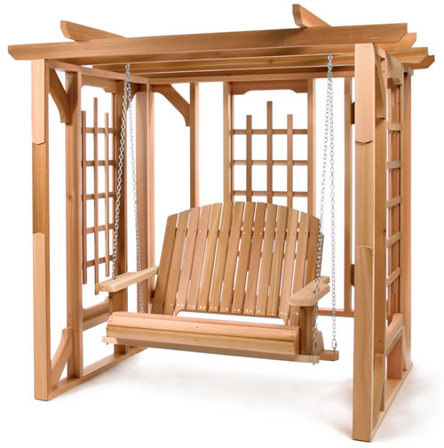 Furniture outdoor furniture swing arbor swing - Arbor bench plans set ...