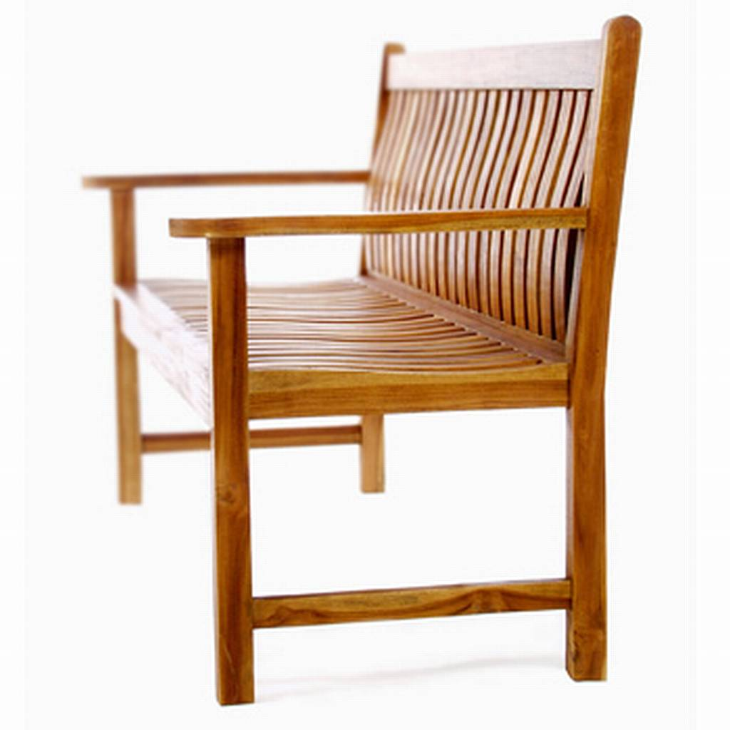 Teak Wave Bench Tw80