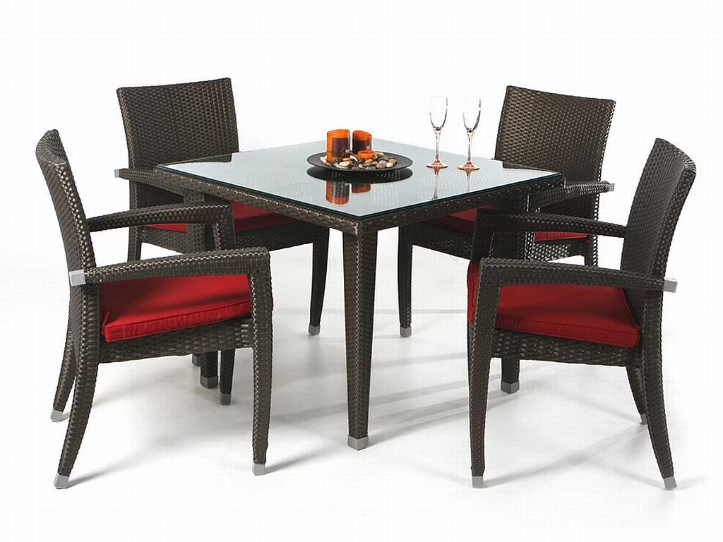 5 pc rattan patio set pr35 5 for Table and chair set