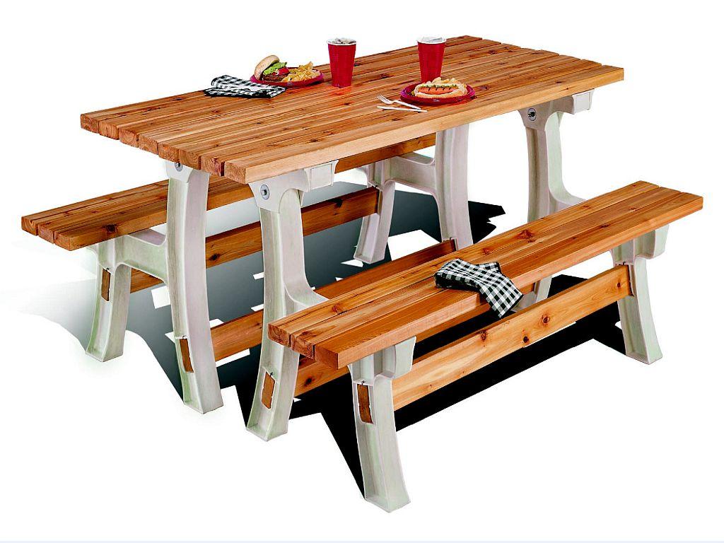 Striped Picnic Table - Martha Stewart Crafts