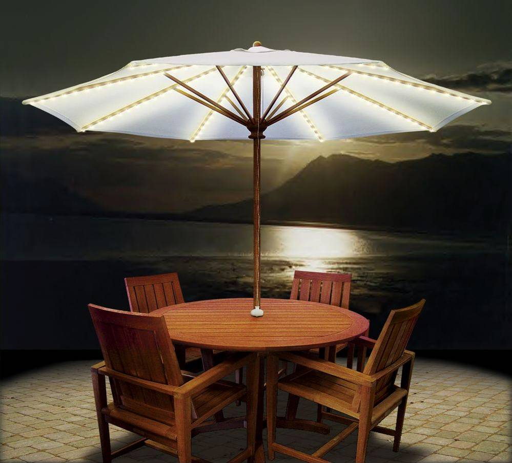 Outdoor Lights On Patio: Umbrella Lights Lighting System