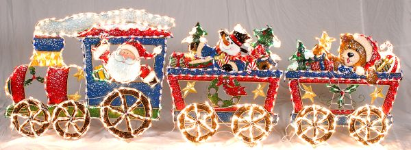 outdoor christmas train decoration creative - Christmas Train Yard Decoration