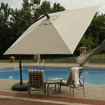 Top View of Santarini Cantlevered Umbrella Canopy
