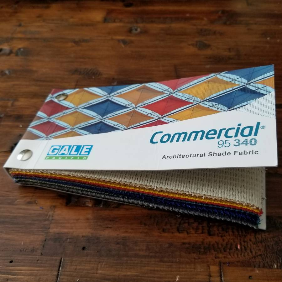 Commercial 95 Samples Shade Cloth Fabric Swatch Book 2018