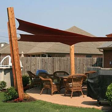 Sunbrella Custom Shade SailsCustom made Shade Sails with Sunbrella near Waterproof Fabric. Outdoor Fabric Sun Shades. Home Design Ideas
