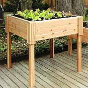 square cedar planter box