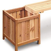 Planters, Potting, and Storage Benches - Western Red Cedar