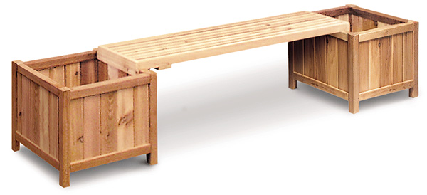 cedar planter box bench plans