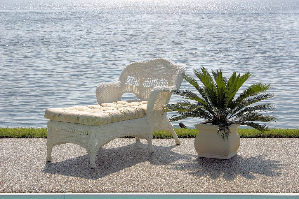 Sahara All Weather Resin Wicker Furniture Set CDI001S4 – White Wicker Lounge Chair