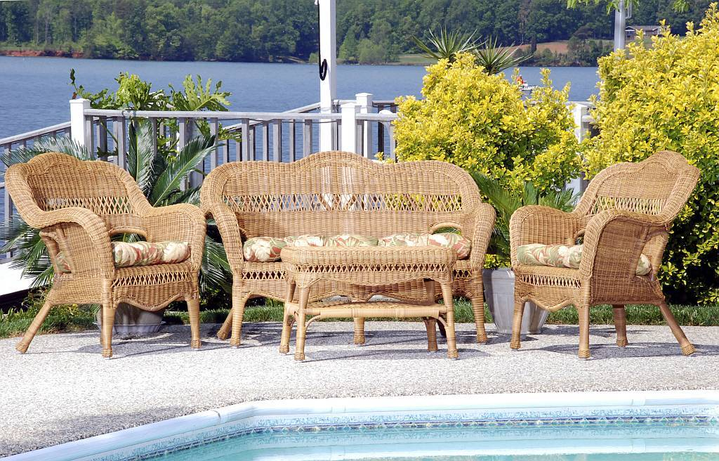 ... Wicker Furniture Set (Click to Enlarge) - Sahara All Weather Resin Wicker Furniture Set - CDI-001-S/4