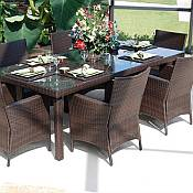 Resin Wicker Outdoor Dining Sets