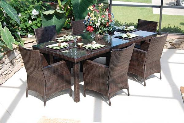 Outdoor Dining Sets 7 Pc Lantana Resin Wicker Dining Set Outdoor ...