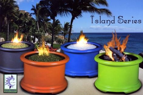 Delightful Island Series Gas Fire Pit
