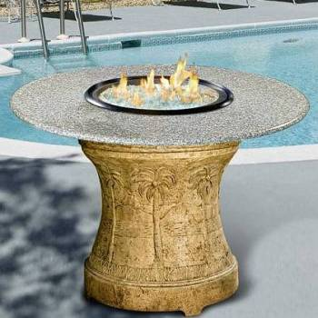 Firepit with Burning Glass Option