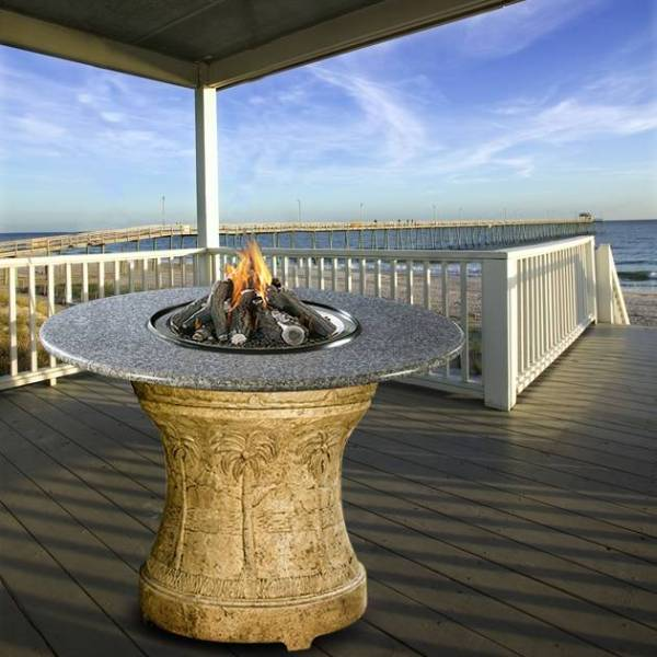 Palm Series Outdoor Bar Height Fire Pit Ps Bh Fp