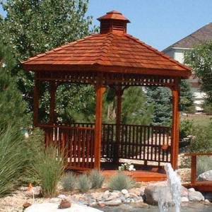 Hex Gazebo with Cupola