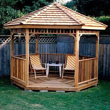 Garden gazebos wooden gazebo kits do it yourself hexagon gazebo kit 8ft solutioingenieria Images