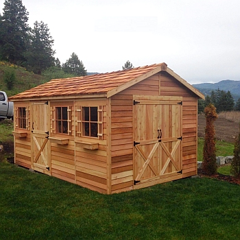 Boathouse Storage Shed - 10x16ft