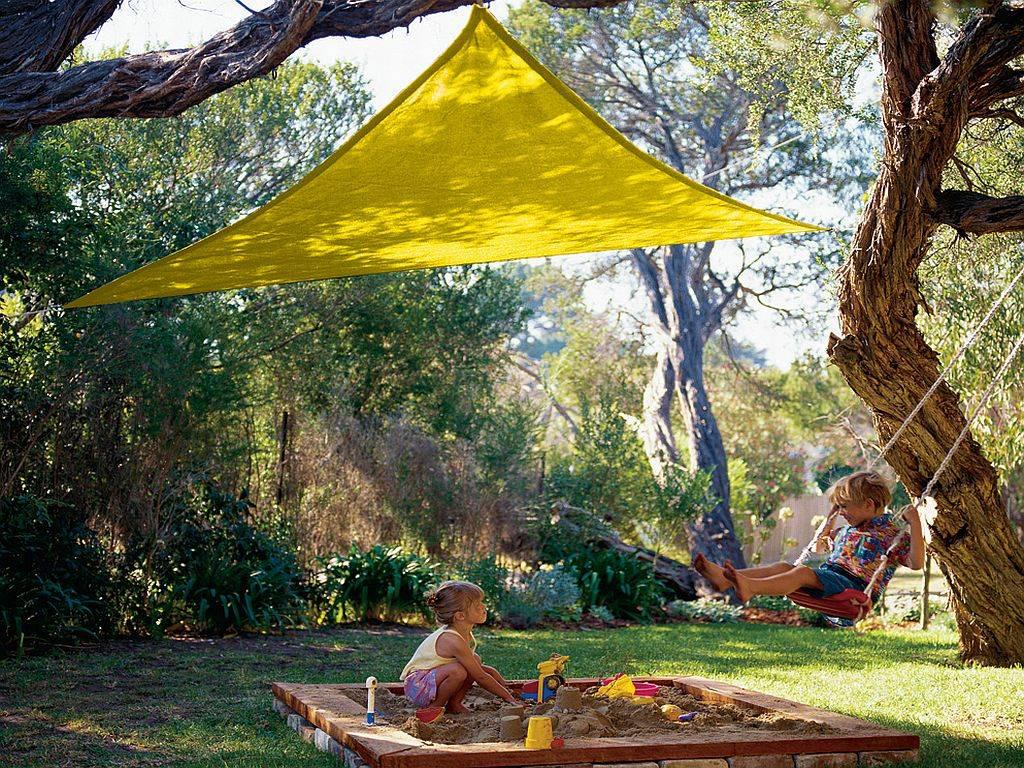 Yellow Kool Colors Party Sail Triangle Coolaroo 9ft 10in