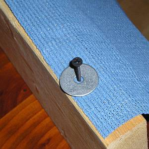 Fix cloth with Screws & Washers