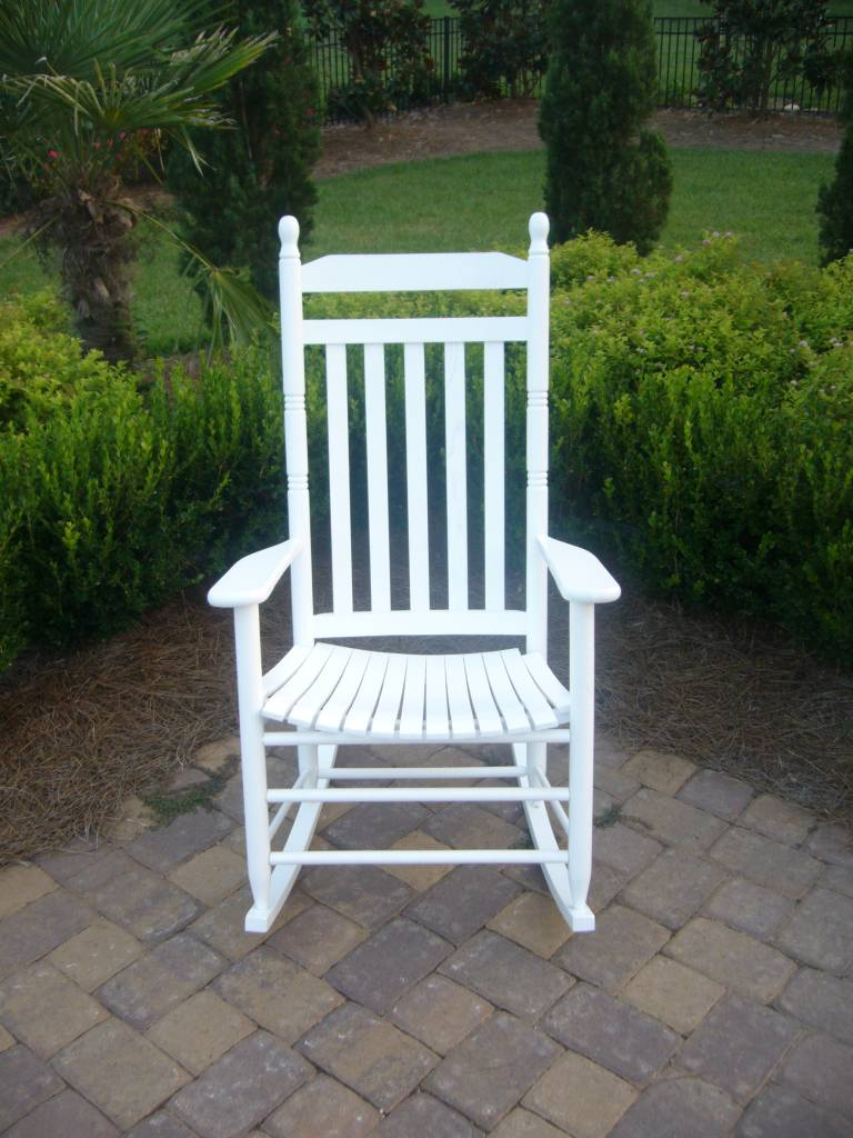 Outdoor Slat Rocking Chair. Slat Back Rocking Chair (Click To Enlarge)