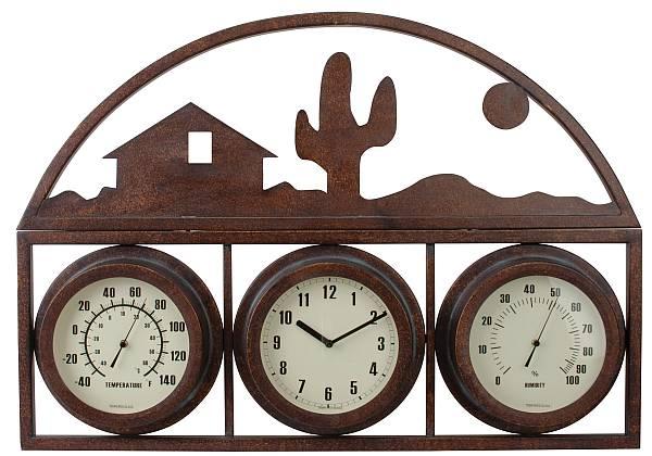 wall mounted cast aluminum temperature gauge home on. Black Bedroom Furniture Sets. Home Design Ideas