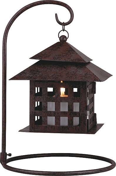 Good Medium Square Design Tabletop Candle Lantern (Click To Enlarge)