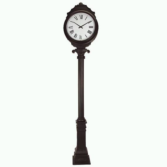 Outdoor furniture gt gt extra large dual faced freestanding clock