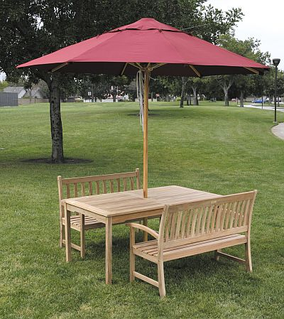 6 to 8 Foot Patio Market Umbrellas - Buy Teak, Wood, and Recycled